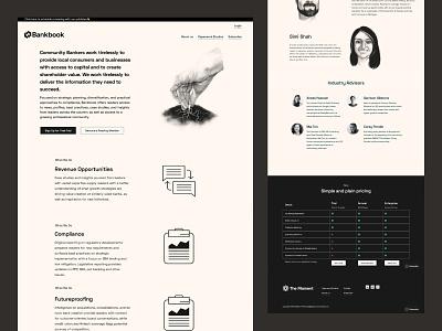 Bankbook - financial publication landing page adsense design illustration figma branding ecommerce advertising tech adtech saas
