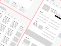 Medical Site Wireframes