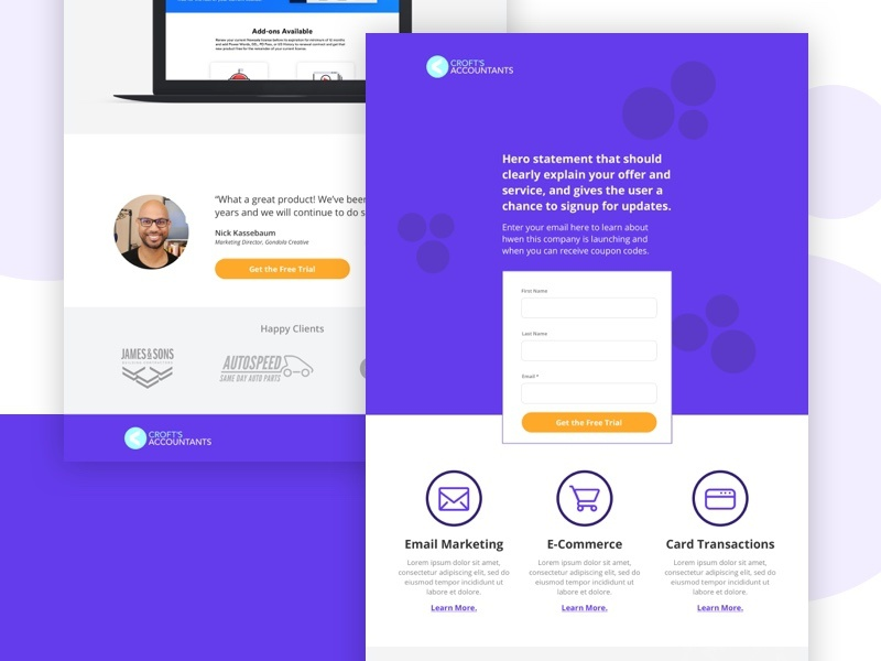 SaaS Marketing Landing Page