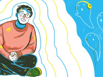 Illustration for Em Schulz Interview with bluumzine.com