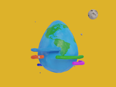 Happy Easter! rainbow playdoh stop motion claymation clay stars world easter egg character illustration motion graphics animation motion design fab design