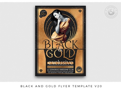 Black and Gold Flyer Template V20