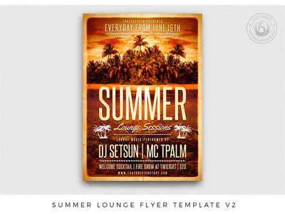 Summer Lounge Flyer Template V2