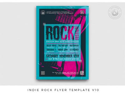 Indie Rock Flyer Template V10