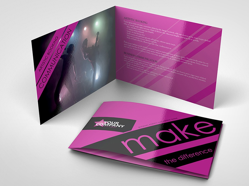 a5 8 pages event and artistic brochure template by lionel laboureur
