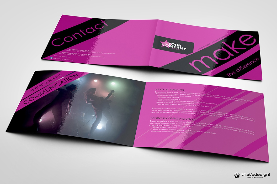 Ip a5 8 pages event and artstic brochure 5