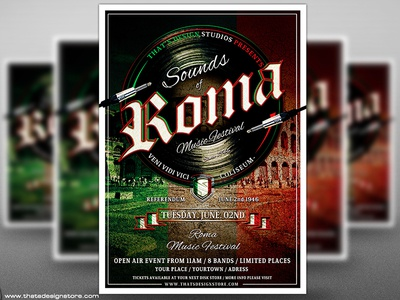 Sounds of Roma Flyer Poster Template