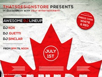dribbble ip canada day flyer poster template by lionel laboureur. Black Bedroom Furniture Sets. Home Design Ideas