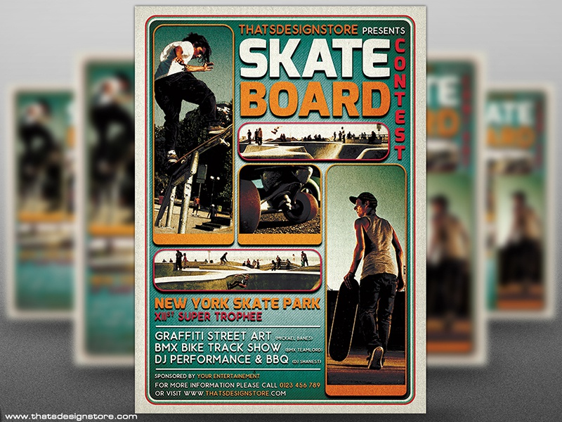 Skating Competition Flyer Template By Lionel Laboureur Dribbble
