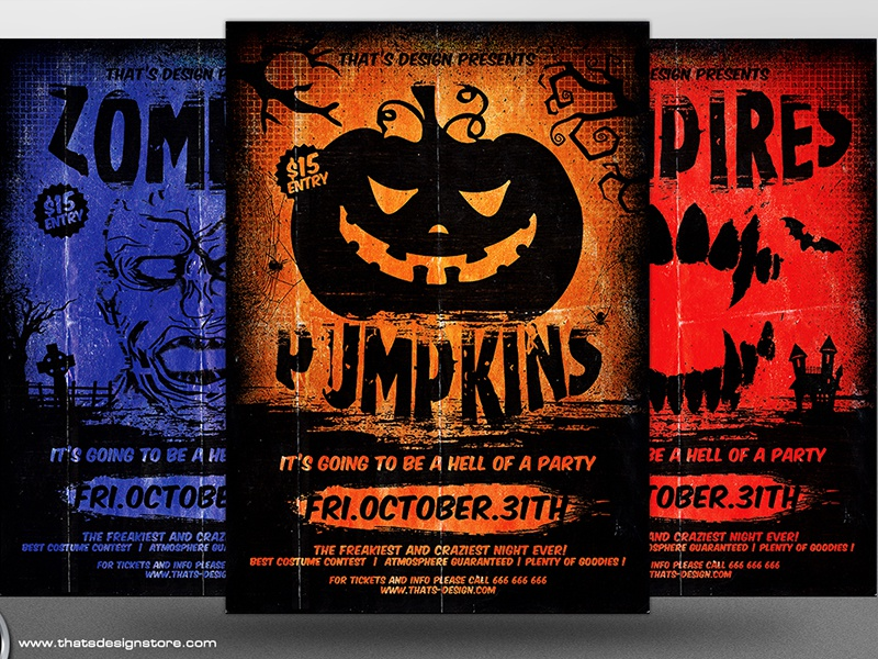 Halloween Flyer Template V4 By Lionel Laboureur Dribbble