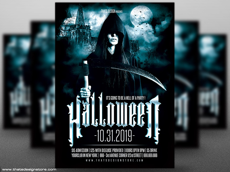 halloween flyer template v8 by lionel laboureur dribbble dribbble