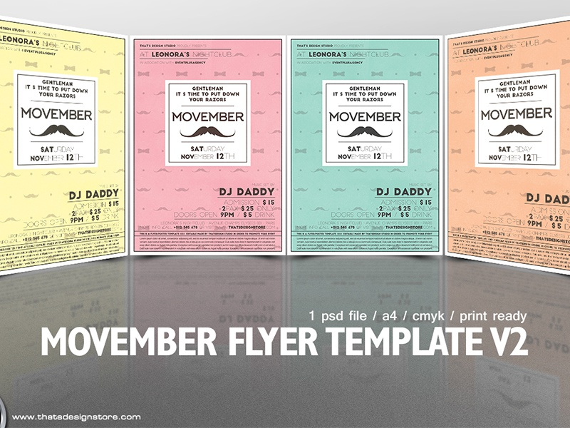 Movember Flyer Template V2 By Lionel Laboureur Dribbble