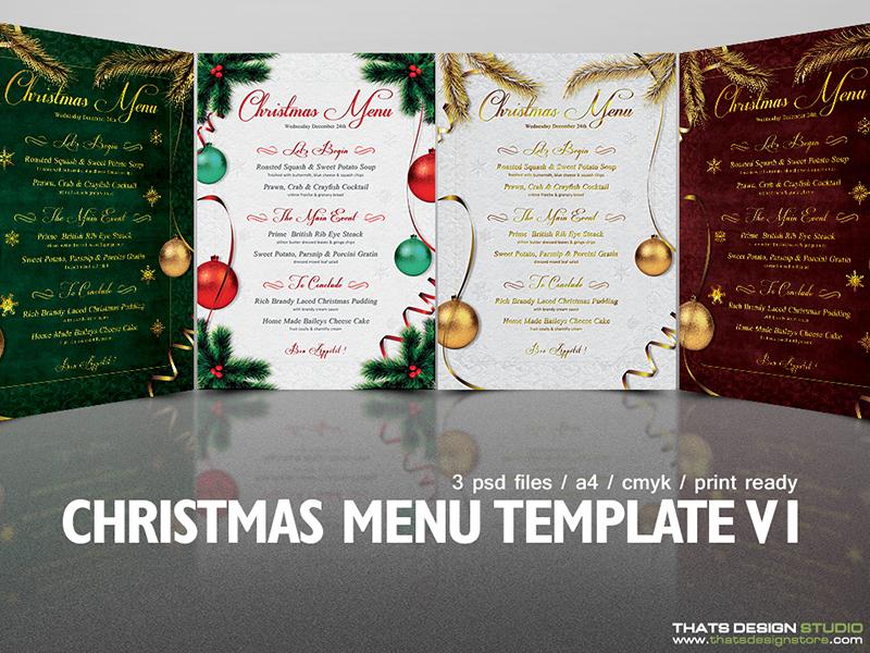 christmas menu template v1 by lionel laboureur dribbble dribbble
