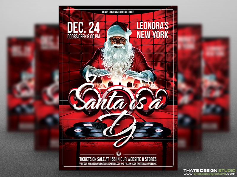 Tags / Christmas Flyer Template - Dribbble