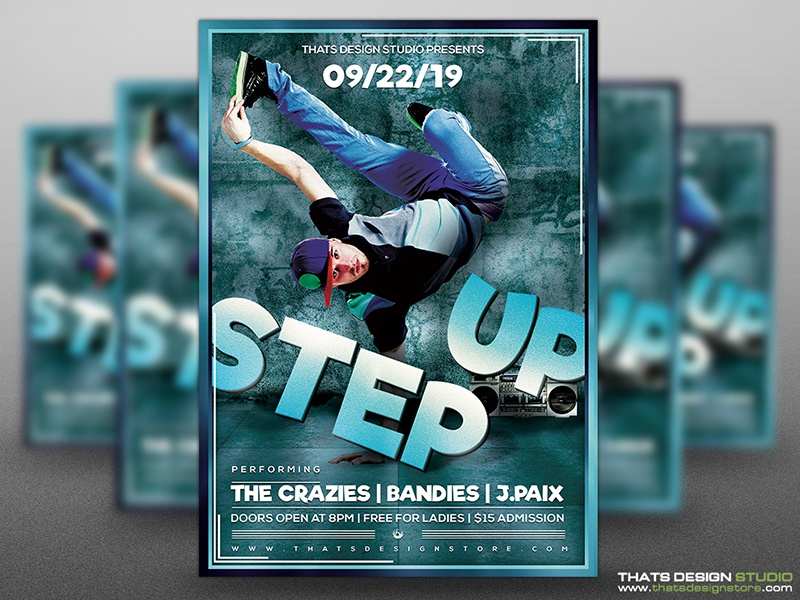free step up flyer template by lionel laboureur dribbble dribbble