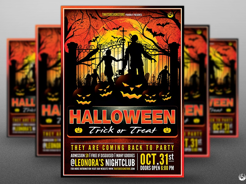 Halloween Flyer Template V19 By Lionel Laboureur Dribbble Dribbble