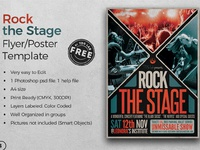 01 free rock the stage flyer template