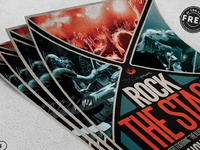 03 free rock the stage flyer template