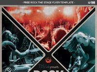 04 free rock the stage flyer template