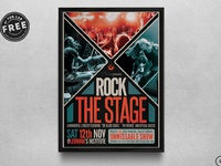 06 free rock the stage flyer template