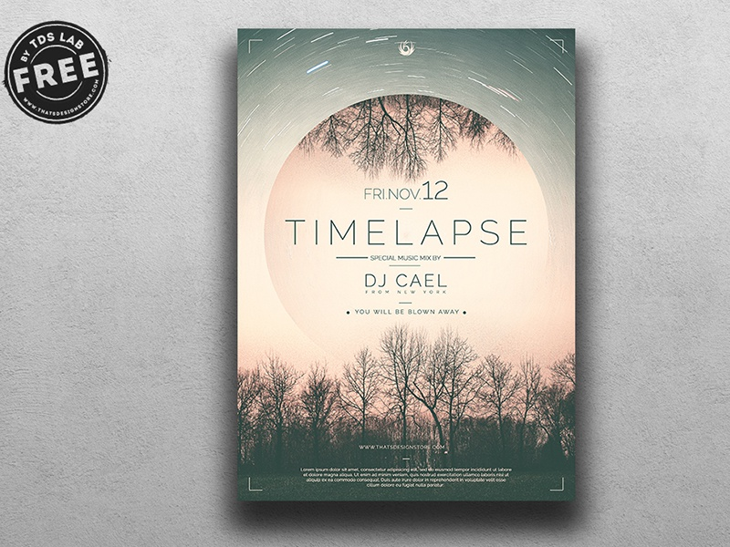 01 free time lapse flyer template dribbble