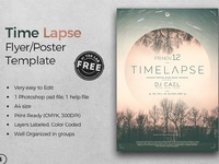01 free time lapse flyer template