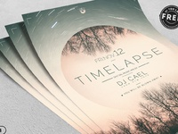 03 free time lapse flyer template