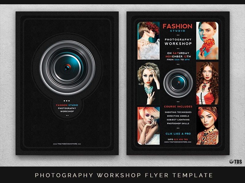 Photography Workshop Flyer Template By Lionel Laboureur Dribbble