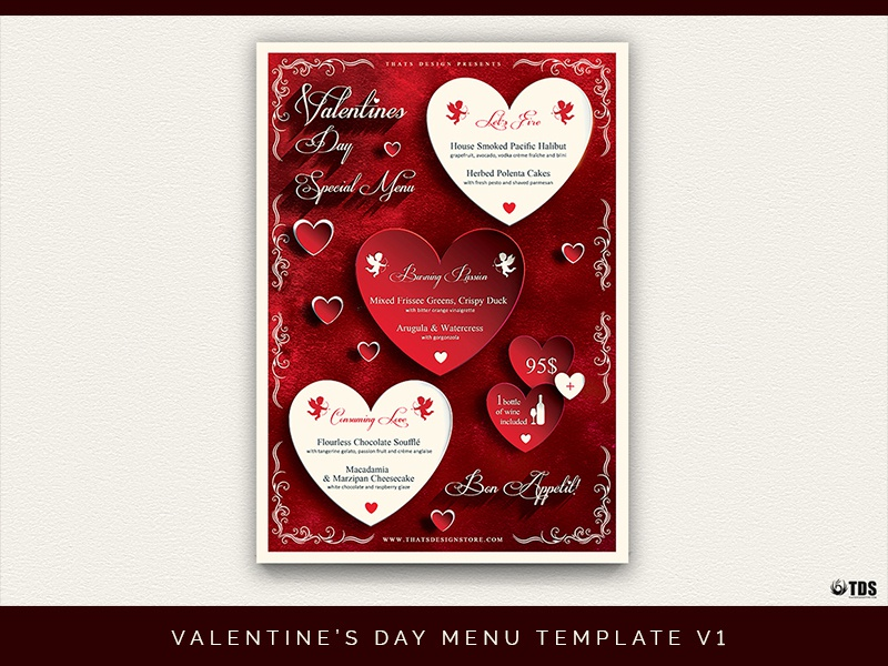 Valentines Day Menu Template V1 By Lionel Laboureur Dribbble