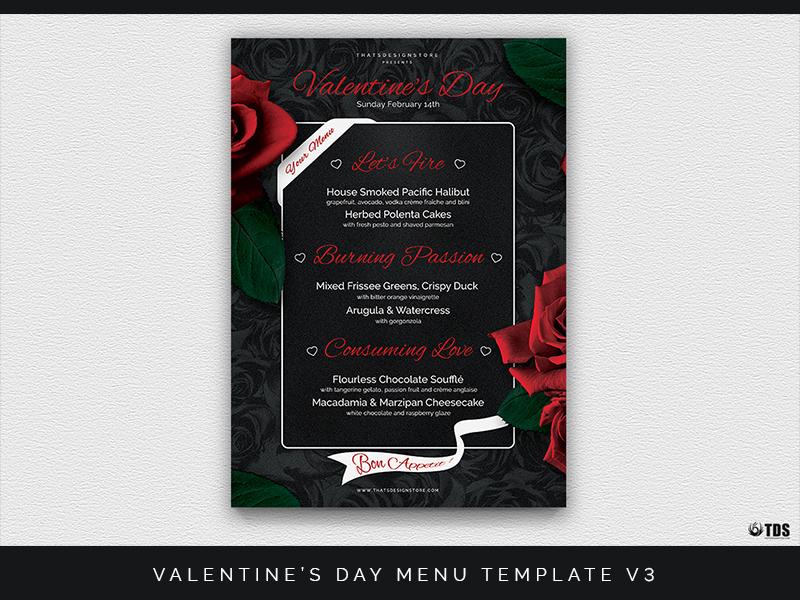 Valentines Day Menu Template V3 By Lionel Laboureur Dribbble