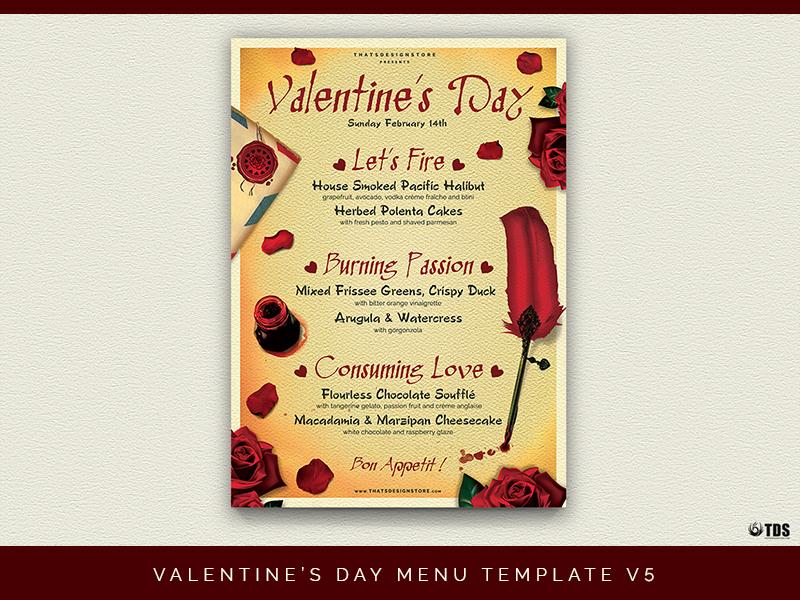 Valentines Day Menu Template V5 By Lionel Laboureur Dribbble
