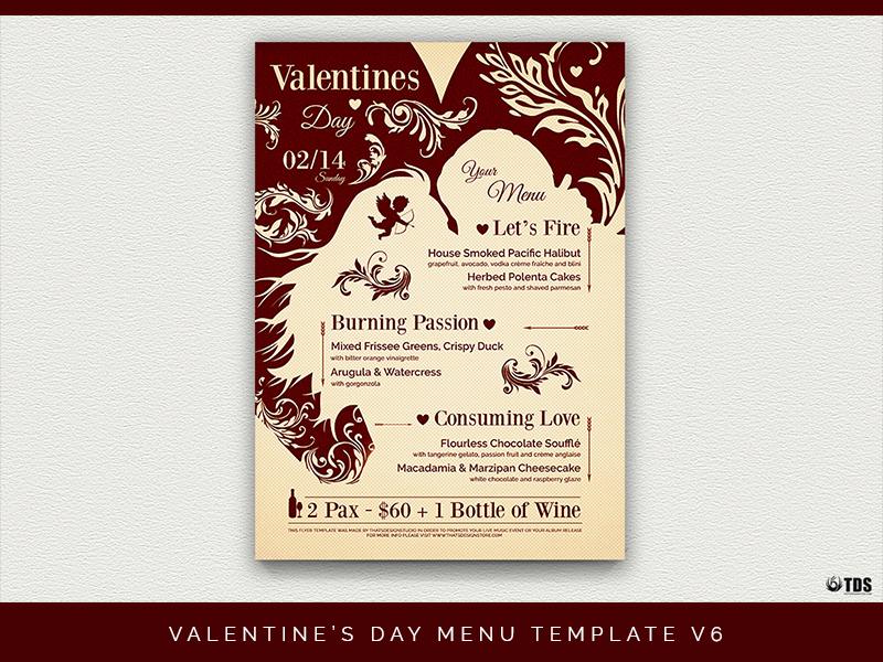 Valentines Day Menu Template V6 By Lionel Laboureur Dribbble