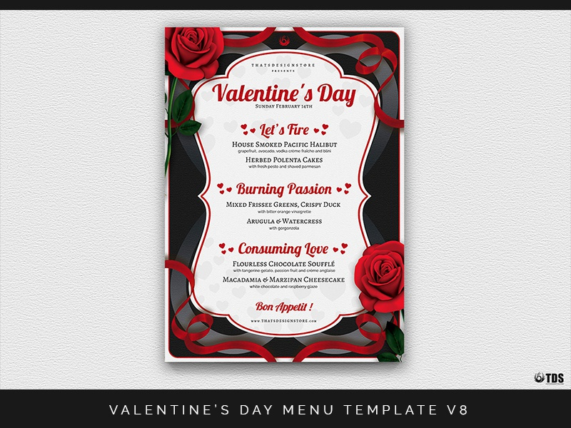 Valentines Day Menu Template V8 By Lionel Laboureur Dribbble