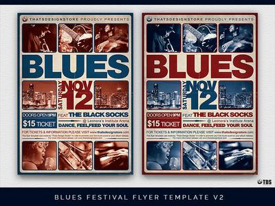Blues Festival Flyer Template V2 By Lionel Laboureur Dribbble