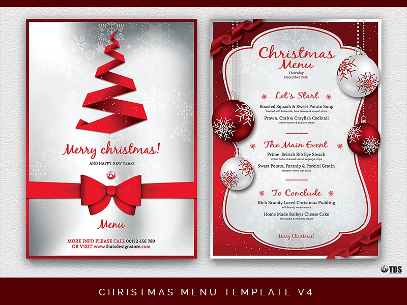 christmas menu template v4 by lionel laboureur dribbble