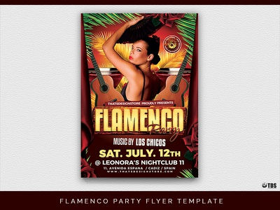 Flamenco Party Flyer Template spanish concert dancing dance show party summer flamenco template poster flyer thatsdesignstore