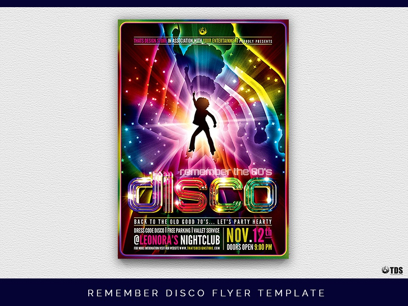 remember disco flyer template by lionel laboureur dribbble dribbble