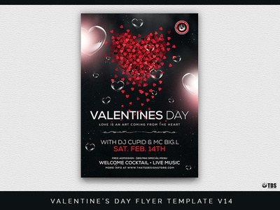 Valentines Day Flyer Template V14 By Lionel Laboureur Dribbble