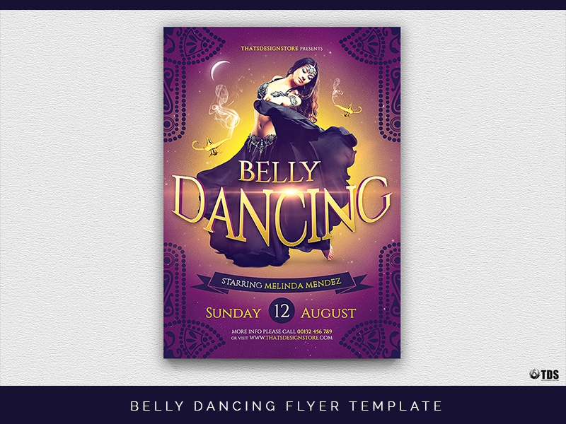 belly dancing flyer template by lionel laboureur dribbble dribbble