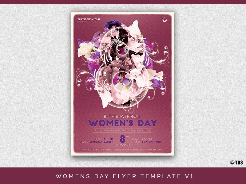 Womens Day Flyer Template V1 feminine ladies club tribute party night day women template poster flyer thatsdesignstore