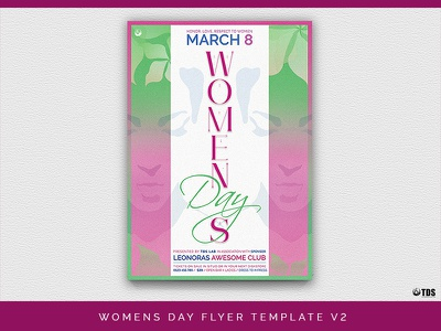 Womens Day Flyer Template V2 feminine ladies club tribute party night day women template poster flyer thatsdesignstore