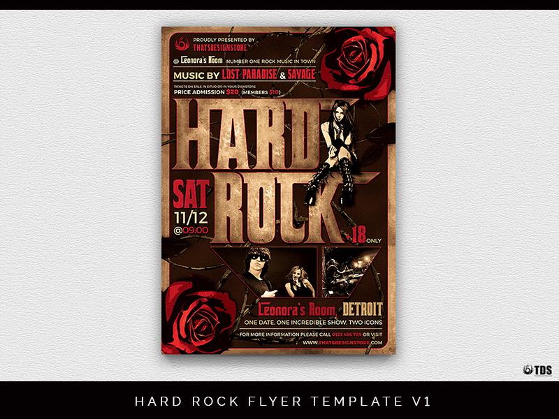 01 hard rock flyer template v1 dribbble
