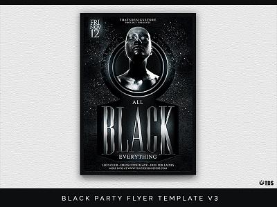 Black Party Flyer Template V3 black night poster party flyer thatsdesignstore white club nightclub dj electro classy