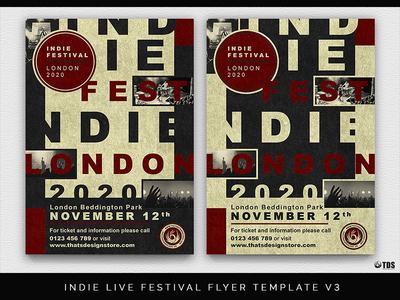 Indie Live Festival Flyer Template V3 By Lionel Laboureur Dribbble