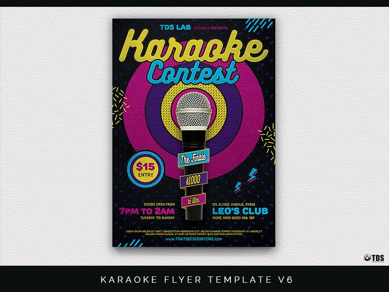 Karaoke Flyer Template V6 By Lionel Laboureur Dribbble