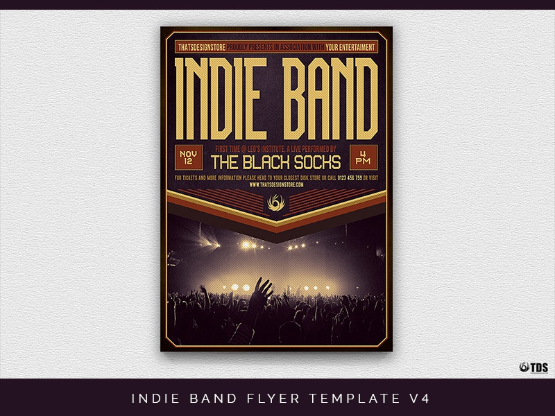 indie band flyer template v4 by lionel laboureur dribbble dribbble