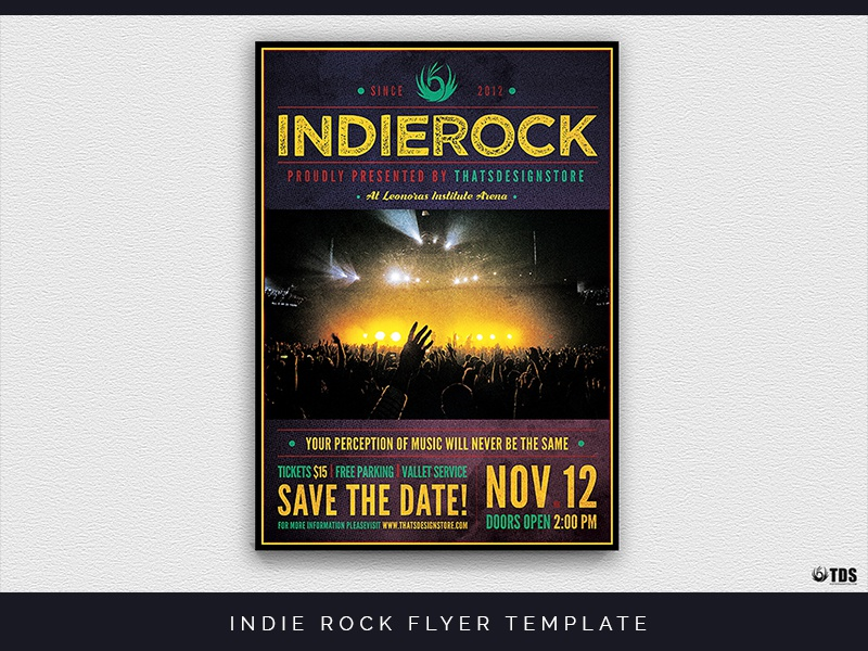 Indie Rock Flyer Template By Lionel Laboureur Dribbble - Save the date flyer template