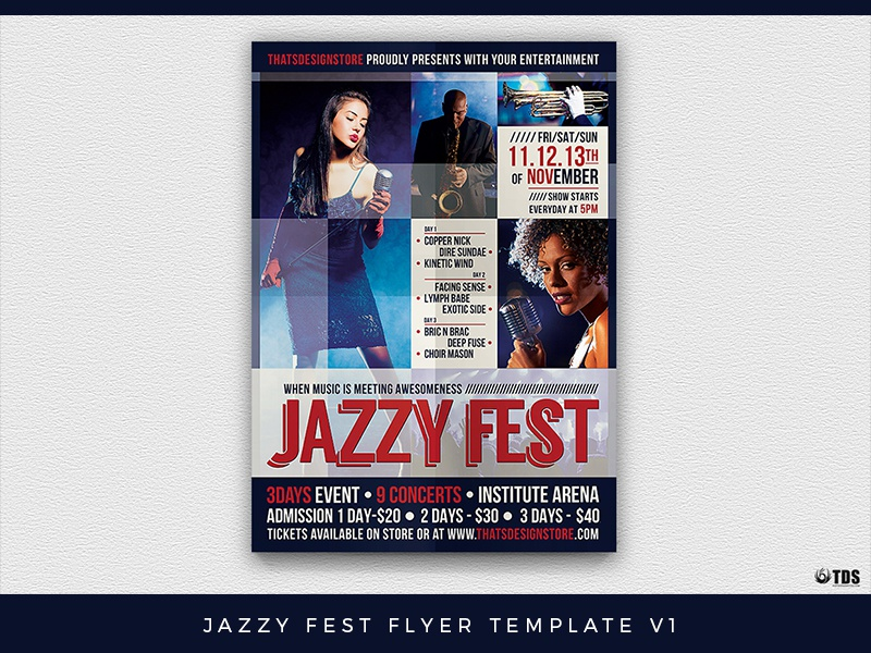 Jazzy Fest Flyer Template V1 By Lionel Laboureur Dribbble