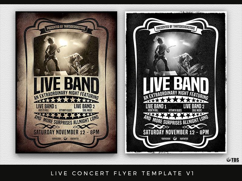 live concert flyer template v1 by lionel laboureur dribbble dribbble