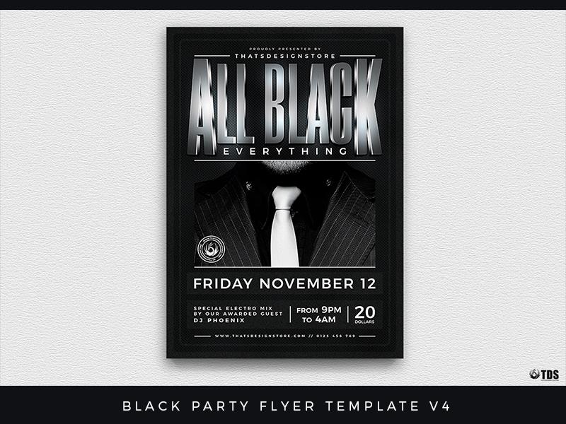 Black Party Flyer Template V4 By Lionel Laboureur Dribbble